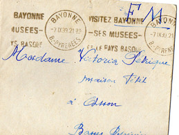 07 12 1939 Lettre FM 49e RI Compagnie  De Commandement à Bayonne Avec Courrier - Guerre De 1939-45