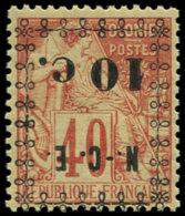 NOUVELLE-CALEDONIE Poste ** - 13a, Surcharge Renversée: 10c. S. 40c. Rouge-orange - Nouvelle-Calédonie
