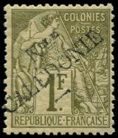 NOUVELLE-CALEDONIE Poste * - 34, Type I, Signé Roumet: 1 F. Olive - Cote: 375 - Nouvelle-Calédonie