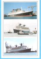 """Le Paquebot """"France"""" à Saint-Nazaire En 1961-Au Havre En 1966-et Le """"Norway"""" Ex-France Au Verdon Sur Mer En 1998-texte - Dampfer"""