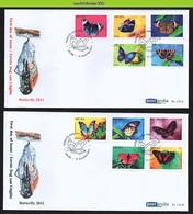Nfv172A+Bfb FAUNA VLINDERS BUTTERFLIES SCHMETTERLINGE MARIPOSAS PAPILLONS ARUBA 2011 FDC's - Butterflies