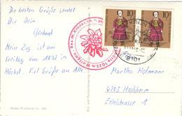 D+ Deutschland 1968 Mi 571 Puppe Auf PK Maxhütte Gegen Wallgau U. Wettersteingebirge Mit Zugspitze - Storia Postale