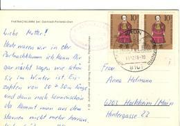 D+ Deutschland 1968 Mi 571 Puppe Auf PK Partnachklamm Bei Garmisch-Partenkirchen - Storia Postale