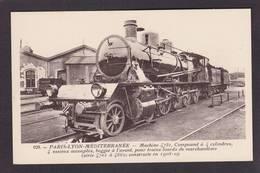 CPA Locomotive Chemin De Fer Train Non Circulé Voir Scan Du Dos - Treinen