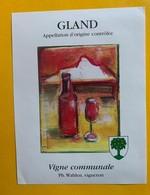 13085 -  Gland Vigne Communale Ph.Wahlen - Etichette