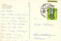 D+ Deutschland 1968 Mi 572 Puppe Auf PK Krün/Oberbayern - Storia Postale