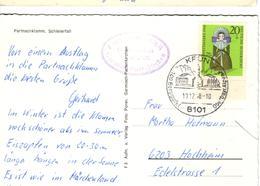 D+ Deutschland 1968 Mi 572 Puppe Auf PK Partnachklamm, Schleierfall - Storia Postale