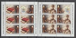 ROMANIA 2020 - Freemasonry -THE NATIONAL GRAND LODGE OF ROMANIA -140 YEARS - 2 Sheets -5 Stamps +1 Label  MNH** - Francmasonería
