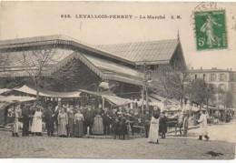 92  LEVALLOIS-PERRET  Le Marché (très Animée) - Levallois Perret