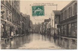 92  LEVALLOIS-PERRET  Crue De La Seine , 30 Janvier 1910  La Rue Martinval - Levallois Perret