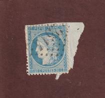 37 De 1870  - Timbre Sur Fragment . Oblitéré -  Cérès  Répub. Franc. 20c. Bleu  - 2 Scannes - 1870 Besetzung Von Paris
