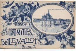92 Mes Amitiés De  LEVALLOIS-PERRET Carte Fantaisie - Levallois Perret