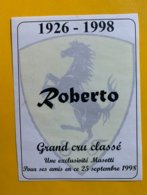 13086 -  Cuvée Roberto (Masotti) 1926 -1998 Cheval Cabré - Etichette
