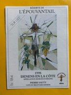 13087 -  Réserve De L'Epouvantail 1998 Sur Lies Denens Pierre Sauty - Etichette