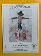 13088 -  Réserve De L'Epouvantail 1998 Rosé De Gamay Denens Pierre Sauty - Etichette