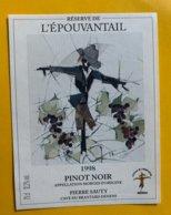 13089 -  Réserve De L'Epouvantail 1998 Pinot Noir Denens Pierre Sauty - Etichette