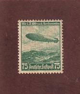 ALLEMAGNE - Année 1936 - AÉRIENS - N° 55 . Neuf * - 1er Voyage Du ZEPPELIN . LZ-129 - 75p . Vert  - 2 Scannes - Nuovi