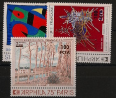 Réunion - 1974 - N°Yv. 425 à 427 - Tableaux / Paintings - Neuf Luxe ** / MNH / Postfrisch - Ungebraucht