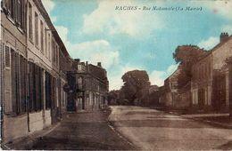 Cpa RACHES 59 Rue Nationale - La Mairie - Voir état - Andere Gemeenten