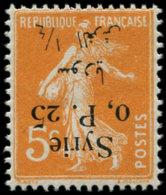 SYRIE Poste * - 127, Surcharge Renversée: 0p25 S. 5c. Orange Semeuse - Cote: 60 - Syrie (1919-1945)