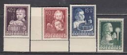 """Austria 1949 - Kinderfuersorge """"Glueckliche Kindheit"""", Mi-Nr. 929/32, MNH** - 1945-60 Unused Stamps"""