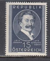 Austria 1949 - 50. Todestag Von Johann Struauss(Sohn)-Komponist, Mi-Nr. 934, MNH** - 1945-60 Unused Stamps