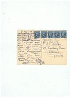 CARTE POSTALE TIMBRE CERES MAZELIN N° 791 DIEPPE Pour ORLEANS 18 04 1948 - 1921-1960: Période Moderne