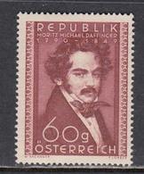Austria 1950 - 160th Birthday Of Moritz Daffinger, Painter, Mi-Nr. 948, MNH** - 1945-.... 2nd Republic