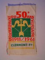 ECUSSON Tissu : SCOUT / RASSEMBLEMENT 50 ème Anniversaire 1911 - 1961 / CLERMONT FERRAND - Ecussons Tissu