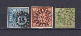 Bayern - 1850/58 - Michel Nr. 2+4/5 - Gest. - 35 Euro - Bayern