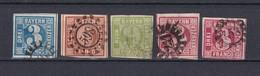 Bayern - 1850/62 - Michel Nr. 2+4/5+9 - Gest. - 49 Euro - Bayern