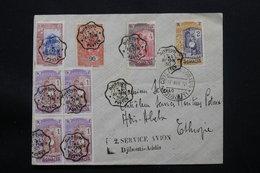 CÔTE DES SOMALIS - Enveloppe Du 2ème Vol Djibouti / Addis Abéba En 1930, Affranchissement Et Oblit. Plaisants - L 57434 - Côte Française Des Somalis (1894-1967)