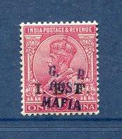 Mafia Island / Ile Mafia - Tanganika - Stanley Gibbons N° 35 * - Neuf Avec Charnière - RARE - India (...-1947)