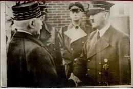 Carte Photo Petain Et Hitler - Te Identificeren