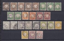 Bayern - 1890/1900 - Michel Nr. 60/63+65/68 - Gest. - 55 Euro - Bayern