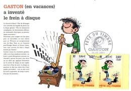 France 3370/71 Fdc Gaston Lagaffe, Chat - Bandes Dessinées