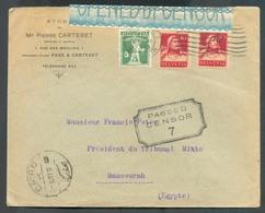 EGYPTE INCOMING - SUISSE 5 Et 10c. (x2)  G. TELL . Obl. Méc. De  GENEVE Sur Lettre Du 24-11-1916 Vers MANSOURAH  (EGYPTE - 1915-1921 British Protectorate