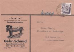 Allierter Besetzung Franzozische Zone Brief Werbung 1948 - French Zone