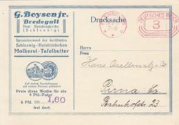 Deutsches Reich Werbung Postkarte Mit Rotfrankerung 1931 - Unclassified