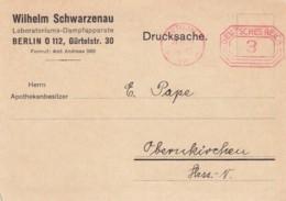 Deutsches Reich Werbung Postkarte Mit Rotfrankerung 1928 - Unclassified