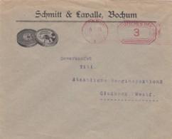 Deutsches Reich Werbung Brief Mit Rotfrankerung 1925 - Covers