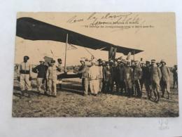 CPA MAROC - FEZ (FES)- Le Premier Aéroplane Au Maroc, Le Timbrage Des Correspondances Avant Le Départ Pour FEZ - Fez (Fès)