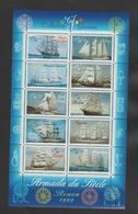 """FRANCE / 1999 / Y&T N° 3269/3278 En Bloc ** Ou BF N° 25 ** (Feuillet """"Voiliers"""") X 1 - Mint/Hinged"""