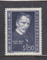 Austria 1953 - Hugo Wolk, Komponist, Mi-Nr. 981, MNH** - 1945-60 Unused Stamps