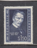 Austria 1953 - Hugo Wolk, Komponist, Mi-Nr. 981, MNH** - 1945-.... 2nd Republic
