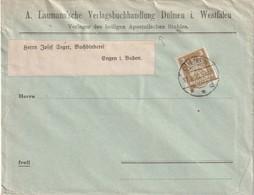ALLEMAGNE 1923 LETTRE DE DÜLMEN - Allemagne