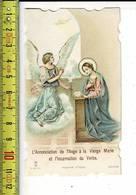 Kl 4283 -  L ANNONCIATION DE L ANGE A LA VIERGE MARIE  - BLANC ARRIÈRE - ACHTERZIJDE BLANCO - Images Religieuses