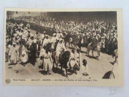 CPA MAROC - FEZ ( FES) - 595-113 F - Le Frère Du Sultan Et Son Cortège à Fez - Fez (Fès)
