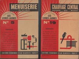 Lot 4 Livrets - Menuiserie Electricité  Chauffage Maçonnerie  N: 1 -2  5 Et 19 Editions Techniques Oscar Beausoleil 1963 - Knutselen / Techniek