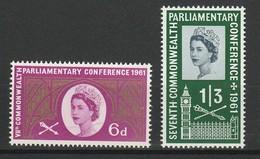 GRANDE BRETAGNE 1961 YT N° 365 Et 366 ** - 1952-.... (Elizabeth II)
